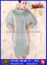 la última moda de diseño de vestido verde 2014 suéter