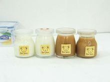 Leche / leche botella de vidrio transparente de 100 ml