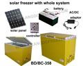 BDBC158DS freezer movido a energia solar freezer dc