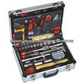 127pcs herramienta de mano fija en caso de aluminio, set de herramientas del hogar