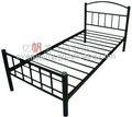 Muebles para el hogar de hierro sola de la cama, cama de metal con cabecera