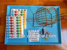 Pulgadas 7.5 marrón deluxe juego de bingo conjunto