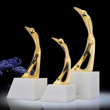 de alta calidad de golf trofeo de metal trofeo de golf base de mármol medallas