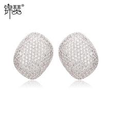 jinse wholesle fashinable joyas de piedras preciosas cz grandes pendientes