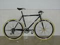 marco de la bicicleta de artes fijos bici del carbón de artes fijos