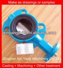 OEM echó la válvula de mariposa tipo wafer hierro en piezas y servicios mecánicos de fabricación