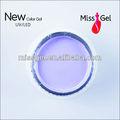 gel transparente para extención de uñas
