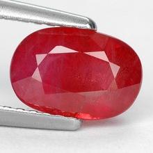 1.96 ct. Notablemente la parte superior de color rojo anaranjado natural ruby con certificar glc