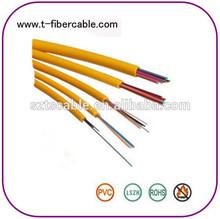 12 fibra monomodo 9/125 chaqueta de lszh cable de fibra de interior de fibra óptica de distribución por cable
