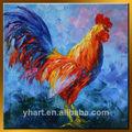 atacado moderna pintura a óleo colorido de galo galo ou animal pintura faca