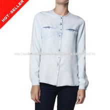 2014 NUEVOS de CHINA últimos diseños de la camisa modelo para las mujeres