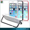 venta al por mayor accesorios para teléfonos móviles parachoques pie de apoyo de aluminio para el iphone 6