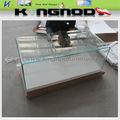 2013 novo& quente- vender design morden vidro dobrado quente de madeira mesa de café