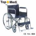 china silla de ruedas acero cromado marco de la silla