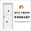 Interior de pvc puerta de madera de diseño/de pvc puerta de acordeón en la fábrica de china