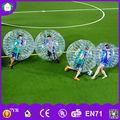 súper clara bola bola de parachoques rebote para adultos,juego de pelota inflable,fútbol burbuja