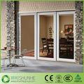 Puertas aluminio de cristal templado para construcción