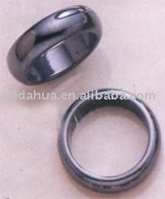 negro hematites magnético piedra anillo de venta al por mayor