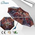 3fold automática da forma da senhora guarda-chuva personalizado