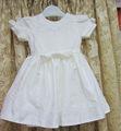 custom made haute qualité longue en dentelle bébé robe de baptême et de mariage robes avec nœud papillon