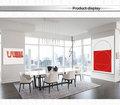rojo resumen de aceite pintura mural de kd lienzo de arte para la decoración del hogar