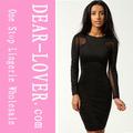 nuevo diseño de venta al por mayor negro bodycon vestido de falda de las últimas imágenes de diseño