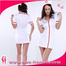 branco vestido de enfermeira fantasias de traje enfermeiras