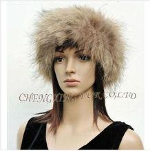 Cx-e-06 genuino de piel de mapache tramo de redecilla y bandas para la cabeza