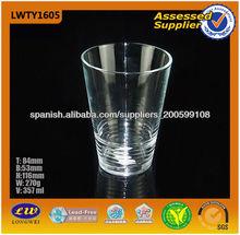 taza de cristal