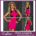 ML17928 Envío rápido V-cuello profundo Volver Sexy Party Dresses Pink Dress vendaje