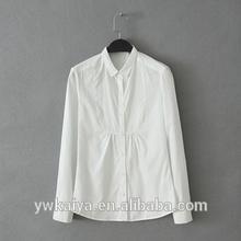 2014 nuevo diseño 100% de algodón slim fit de verano casual blusa de las mujeres