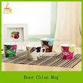 smallsize bone china tasse de café avec des dessins de fleurs