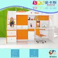 Niños cama litera con armario y escritorio 8811a #