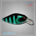 2014 nuevo diseño silencioso manivela atraer a la pesca de cebo flotante de pesca de la tienda
