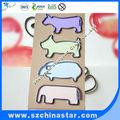 grandes formas de metal plana de animales de papel clips