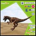 venta caliente a pie de plástico con los dinosaurios modelo
