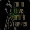 estoy en el amor con una stripper rhinestone transferencias de calor para el vestido