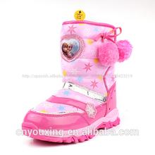 2014 las niñas de la moda de invierno congelada de nieve botas de la serie