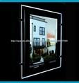 La tecnología LED de alta calidad Eco-Friendly de cristal acrílico cartel publicitario de ultra delgado A1