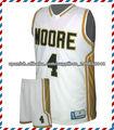 equipo de baloncesto ropa sublimación especializados con diseño libre