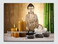 Buda picure decorativo con el parpadeo de luz de las velas, la pintura de buda con led, buda pintura de la lona