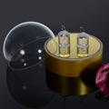 girar transparente de acrílico exhibición de la joyería del bloque para los anillos de led con el interruptor