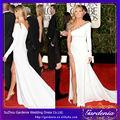 heidi klum blanco vestido de fiesta 2014 globo de oro premios alfombra roja de la celebridad baratos alfombra roja vestidos
