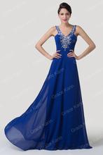 nuevo noche largo de gasa balón vestido de gala fiesta formal vestido de dama CL6197