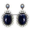Diamond Dangle Earrings Gemstone Jewelry Wholesale, Gold Earrings, Silver Earrings, Moonstone Earrings, Blue Sapphire Earrings