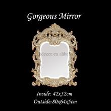 de estilo imperio espejo decorativo con la urna y con motivos de la hoja de oro antiguo marco de la hoja de espejo de la pared