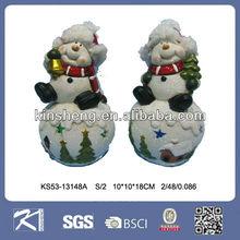cerâmico do boneco de neve enfeite de natal para a decoração