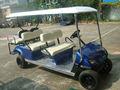 6 plazas turísticas vehículo eléctrico del carro de golf, carro de golf de la marca con el motor de gran alcance