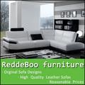 Mejor sofá de cuero venta de blanco en Francia y negro 752#