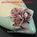 Zapatos hechos a mano de flores de cuero, venta al por mayor de flores de cuero